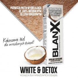 BLANX COCO WHITE- kokosowa biel, wybielająca do zębów ze 100% olejem kokosowym, 75ml